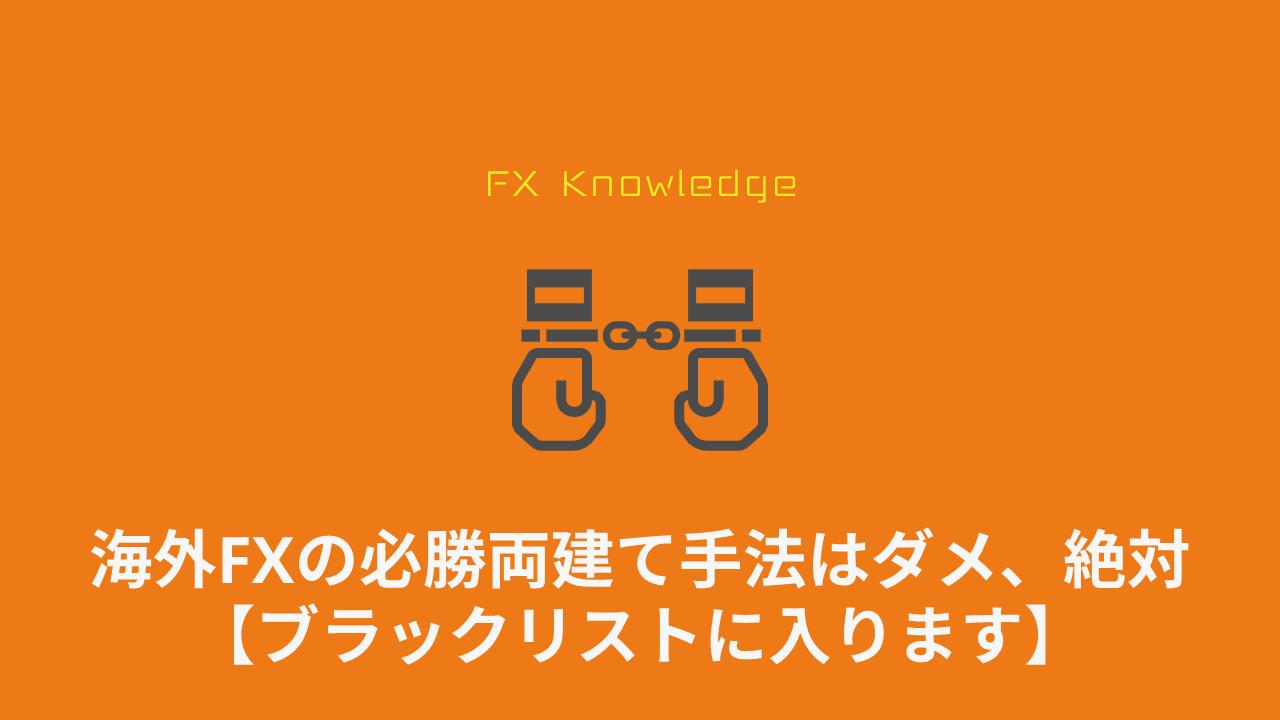 海外FX_両建て