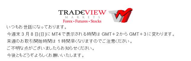 TradeView取引時間お知らせメール