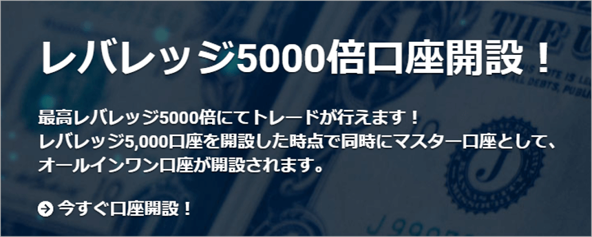 レバレッジ5000倍口座