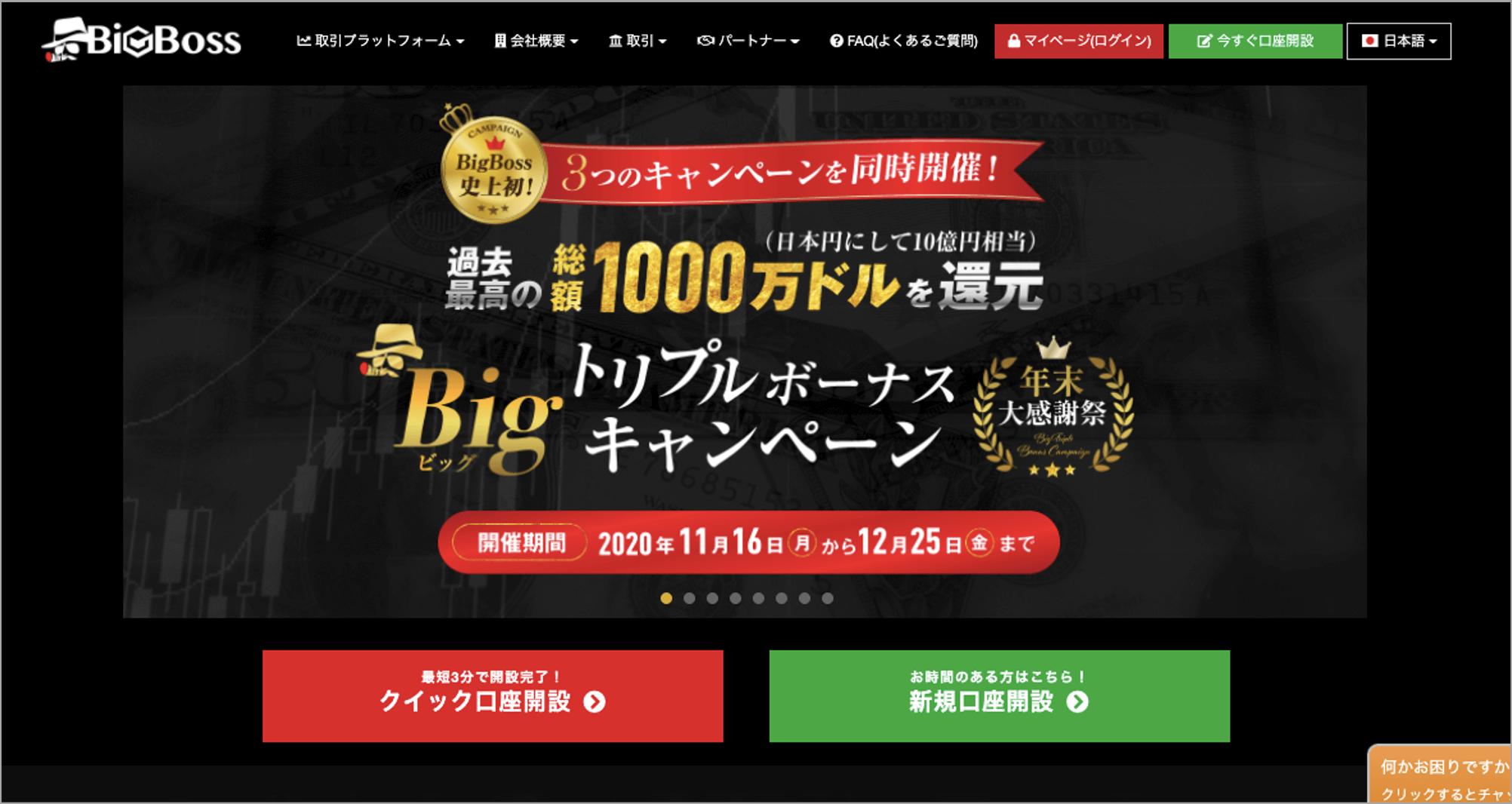 BigBoss 公式サイト画像