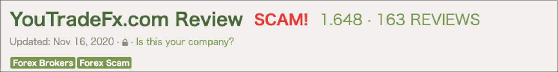 YouTradeFX SCAM画像