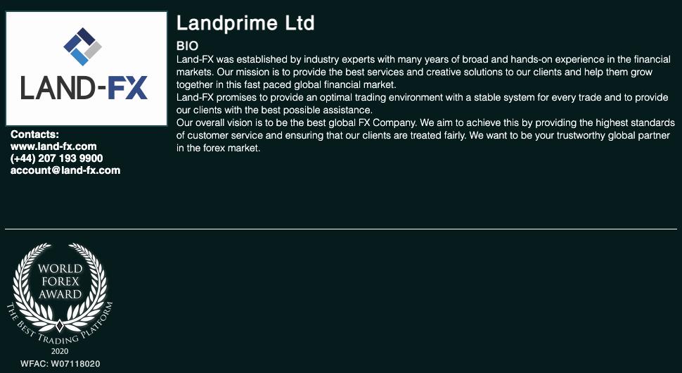 LANDFX_公式サイトの受賞証拠