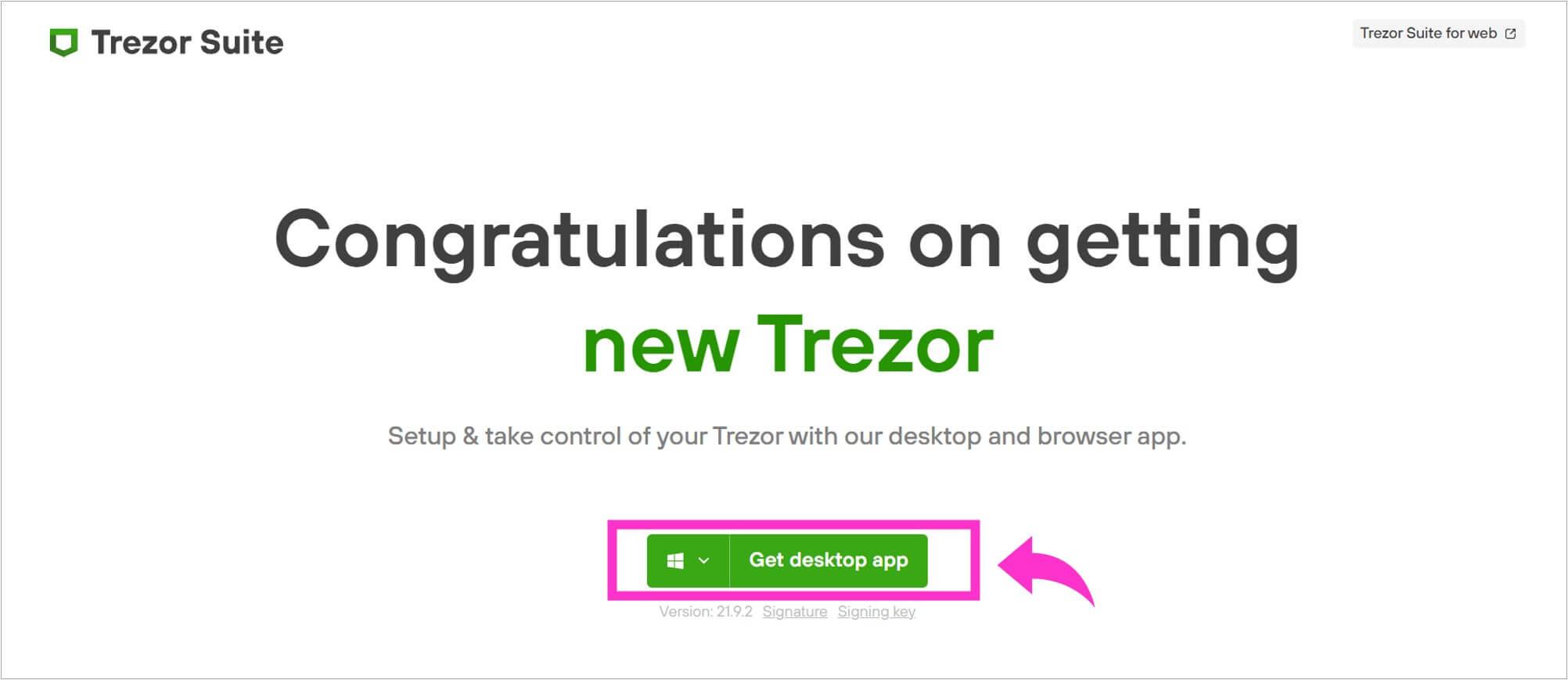 「Get desktop app」を選択